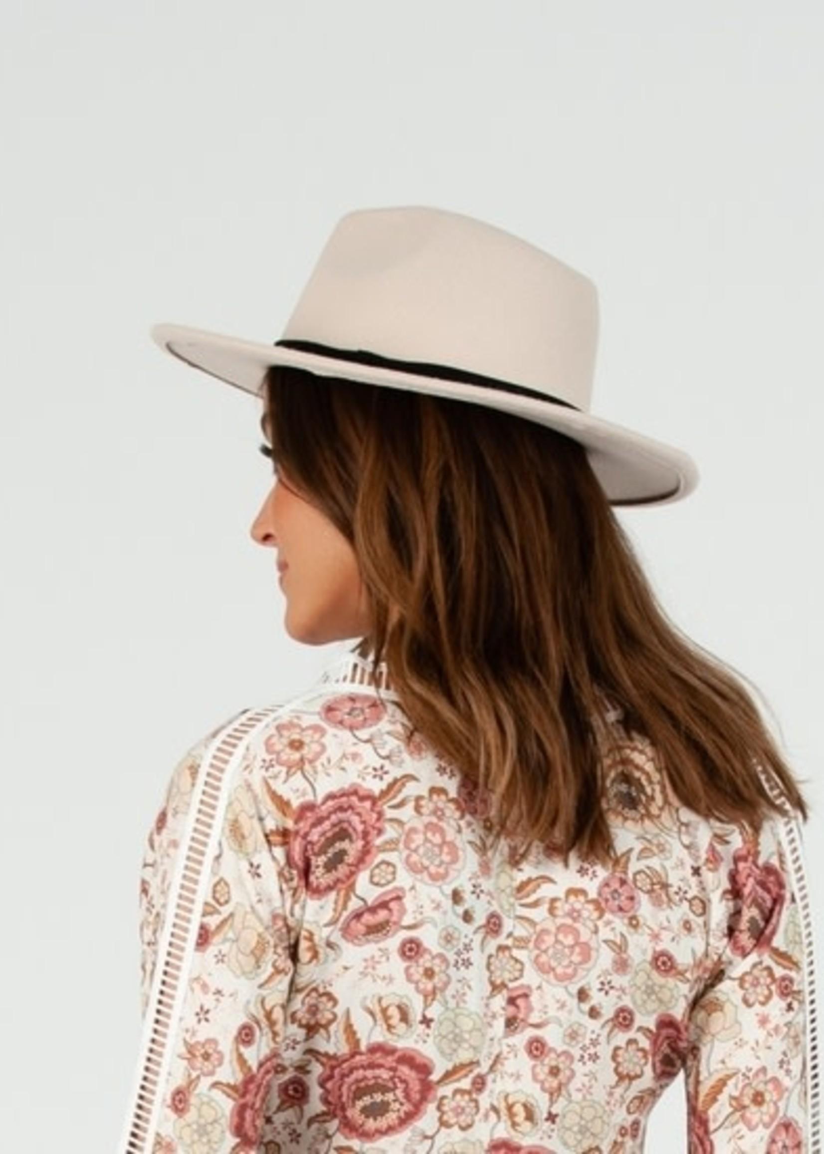 Lucca Couture BANANZA VEGAN FELT PANAMA - IVORY