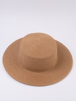 Lucca Couture Capri Straw Boater Hat-Beige
