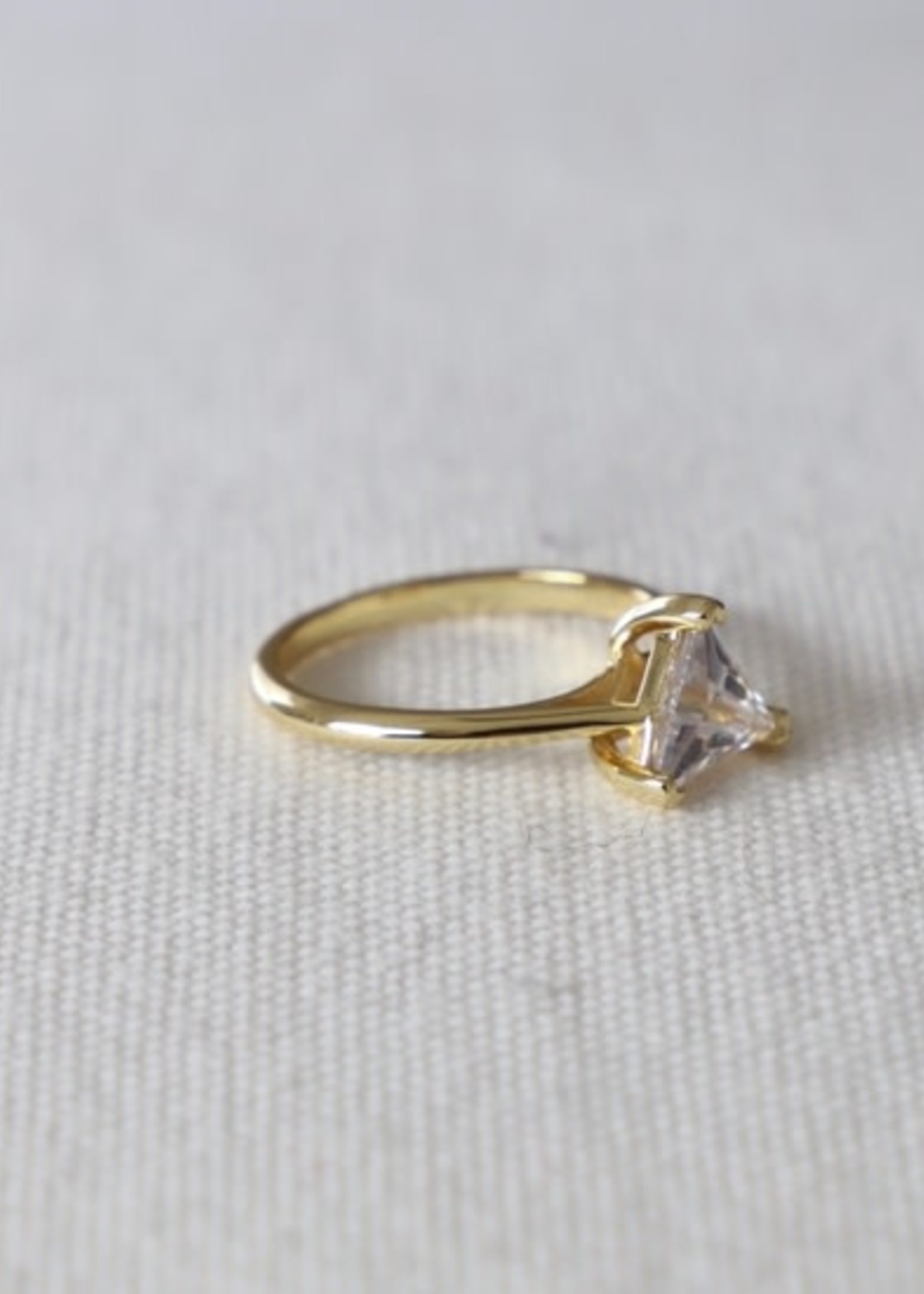 Katie Waltman Jewelry SOLITAIRE TRIANGLE RING