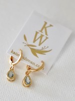 Katie Waltman Jewelry PETITE TEARDROP HUGGIES
