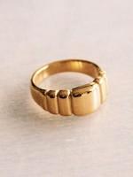 """EM & ELLE Steel Ring """"Square"""" - Gold"""