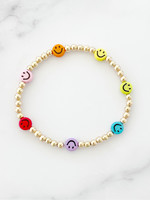 EM & ELLE Rainbow Smiley Bracelet