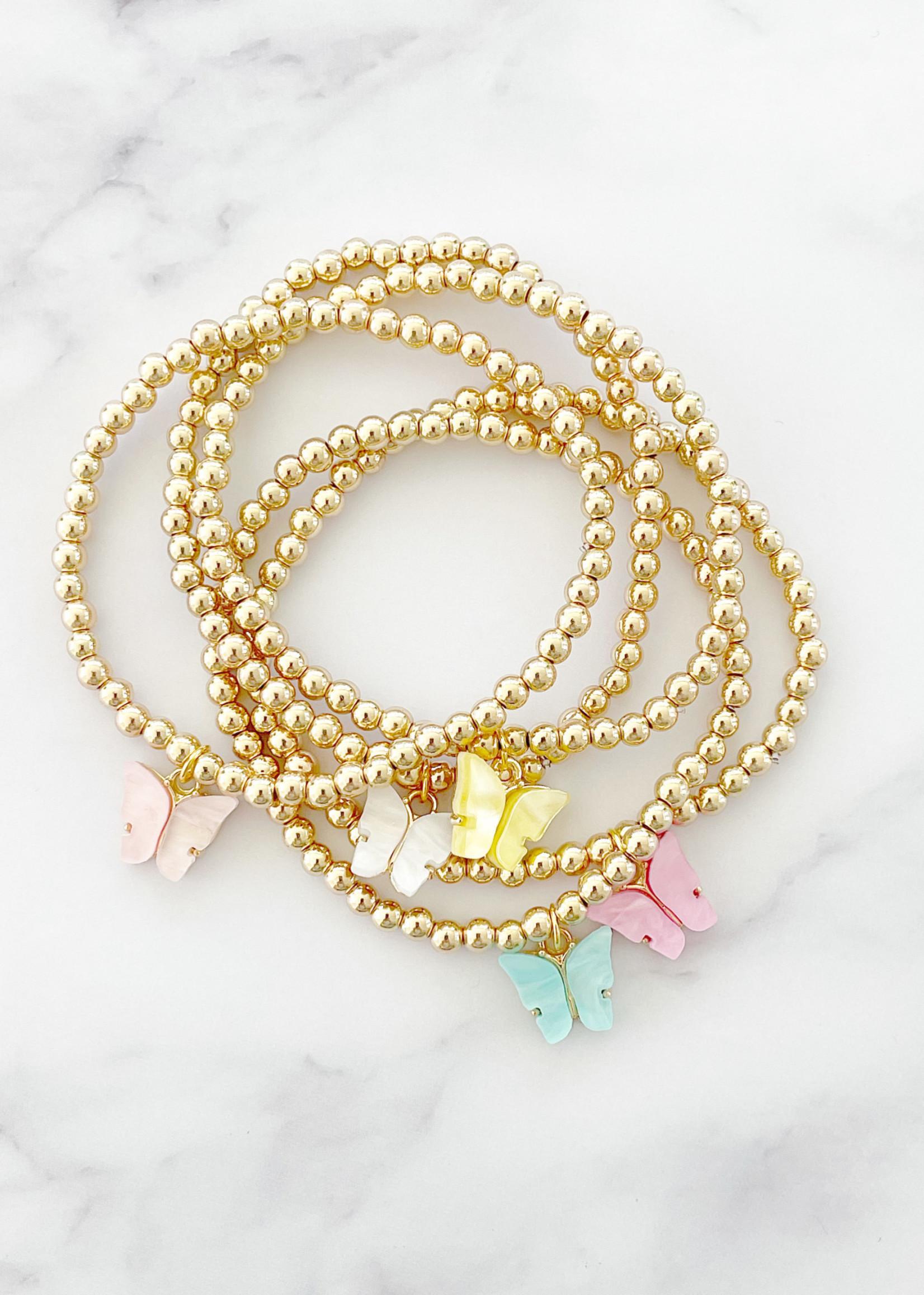 EM & ELLE Butterfly Charm Bracelet