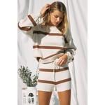 EM & ELLE Step Up Striped Sweater