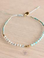 Miyuki / Faceted Bracelet - Mint / Gold