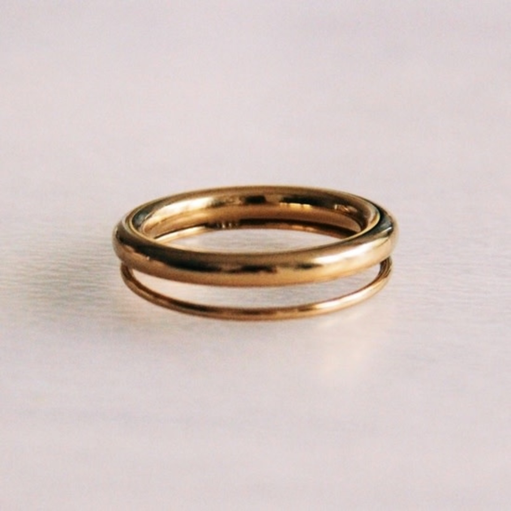 Double Stainless Ring