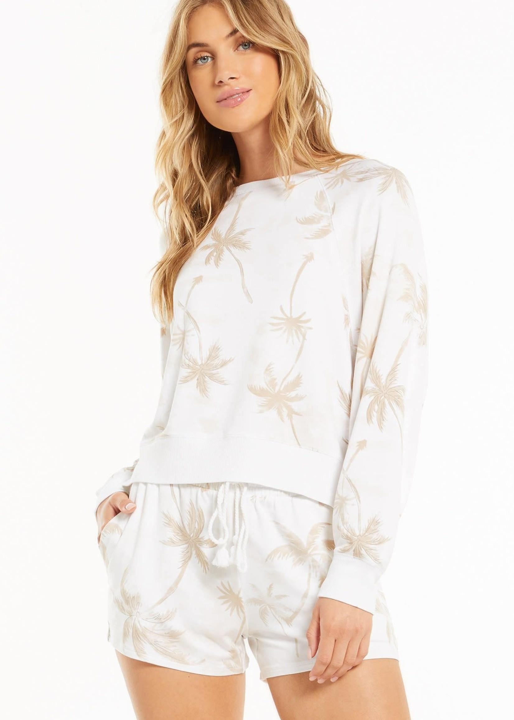 Z Supply Sleepover Palm Sweatshirt