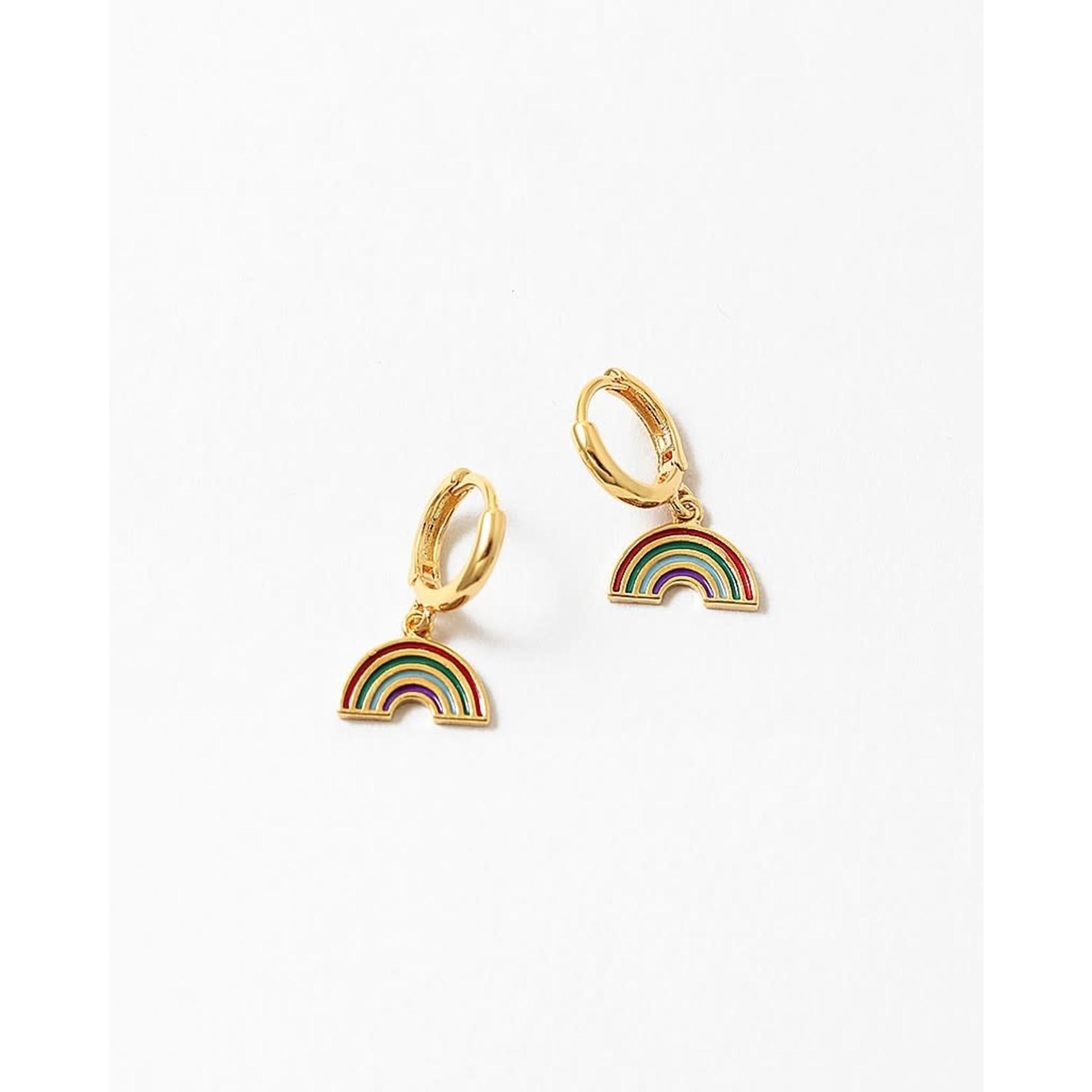 EM & ELLE Enamel Rainbow Huggie