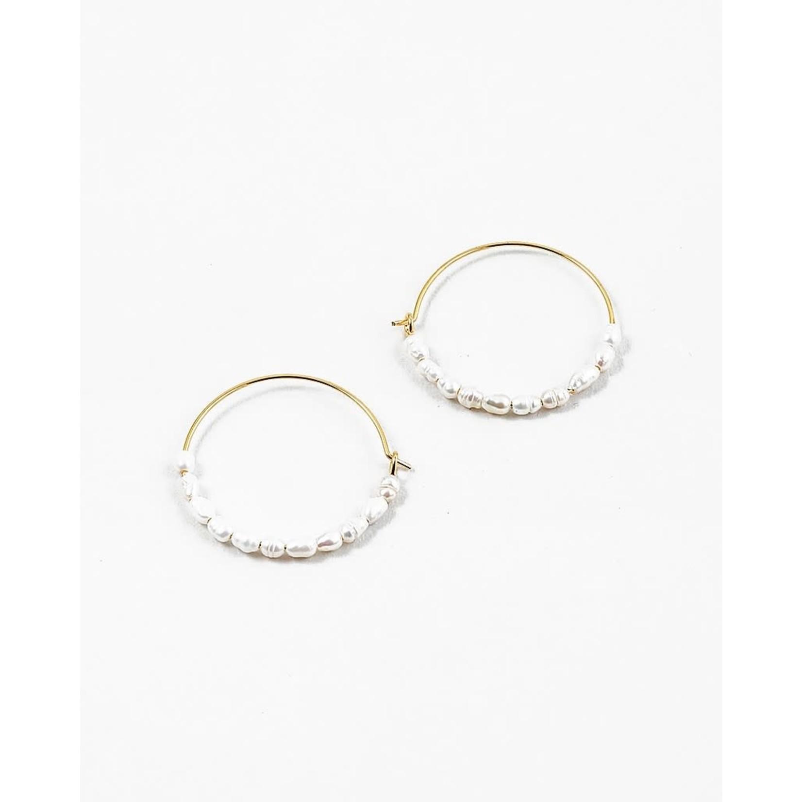 EM & ELLE Pearl Hoop Earrings