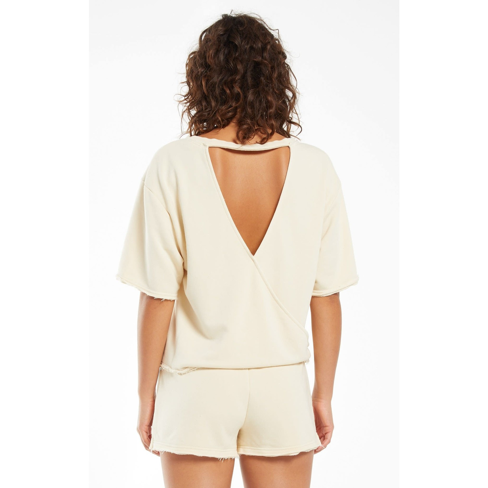 Z Supply Calla Open Back Washed Pullover