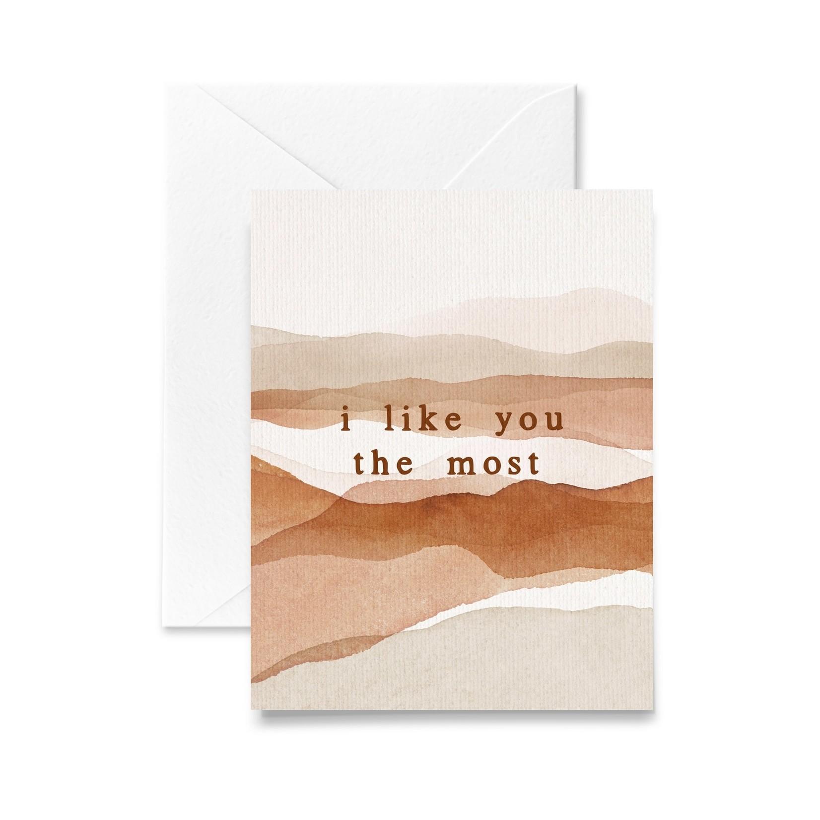 I Like You The Most Card