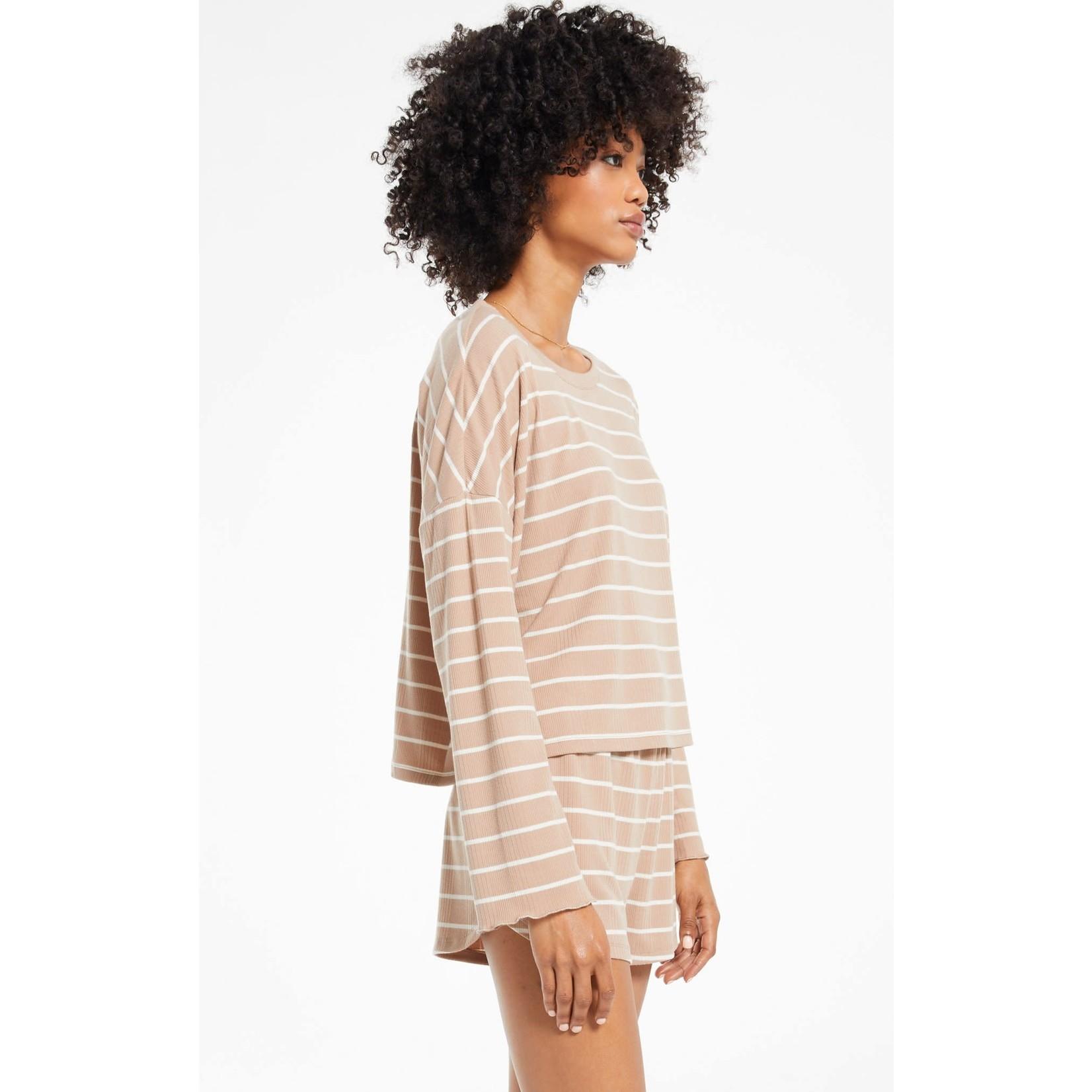 Z Supply Betty Stripe Long Sleeve Top