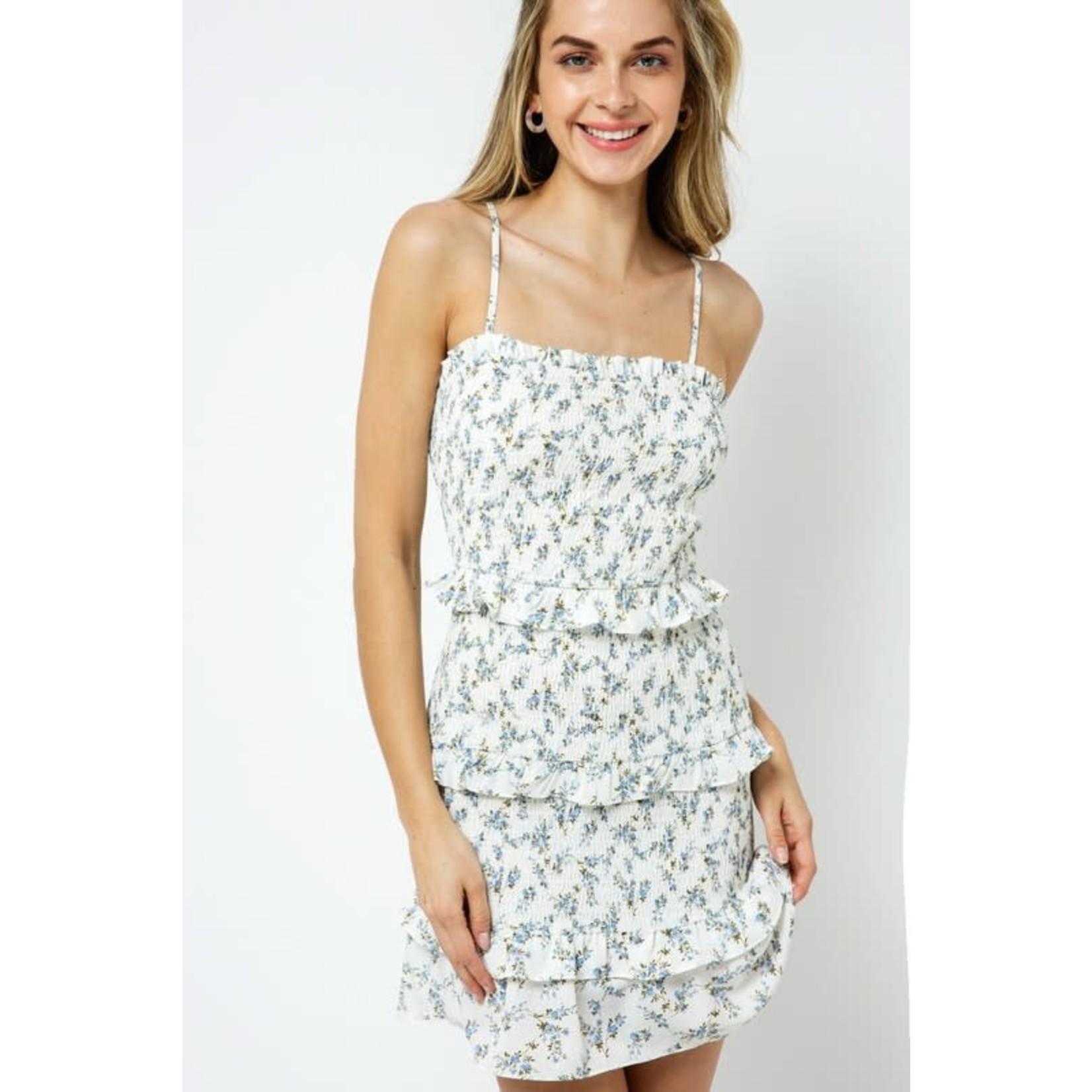 EM & ELLE Hanes Smocked Ruffled Dress