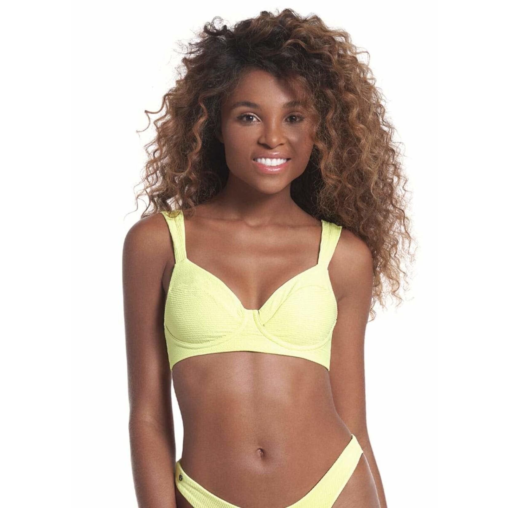 Maaji Butter Yellow Bailey Bikini Top