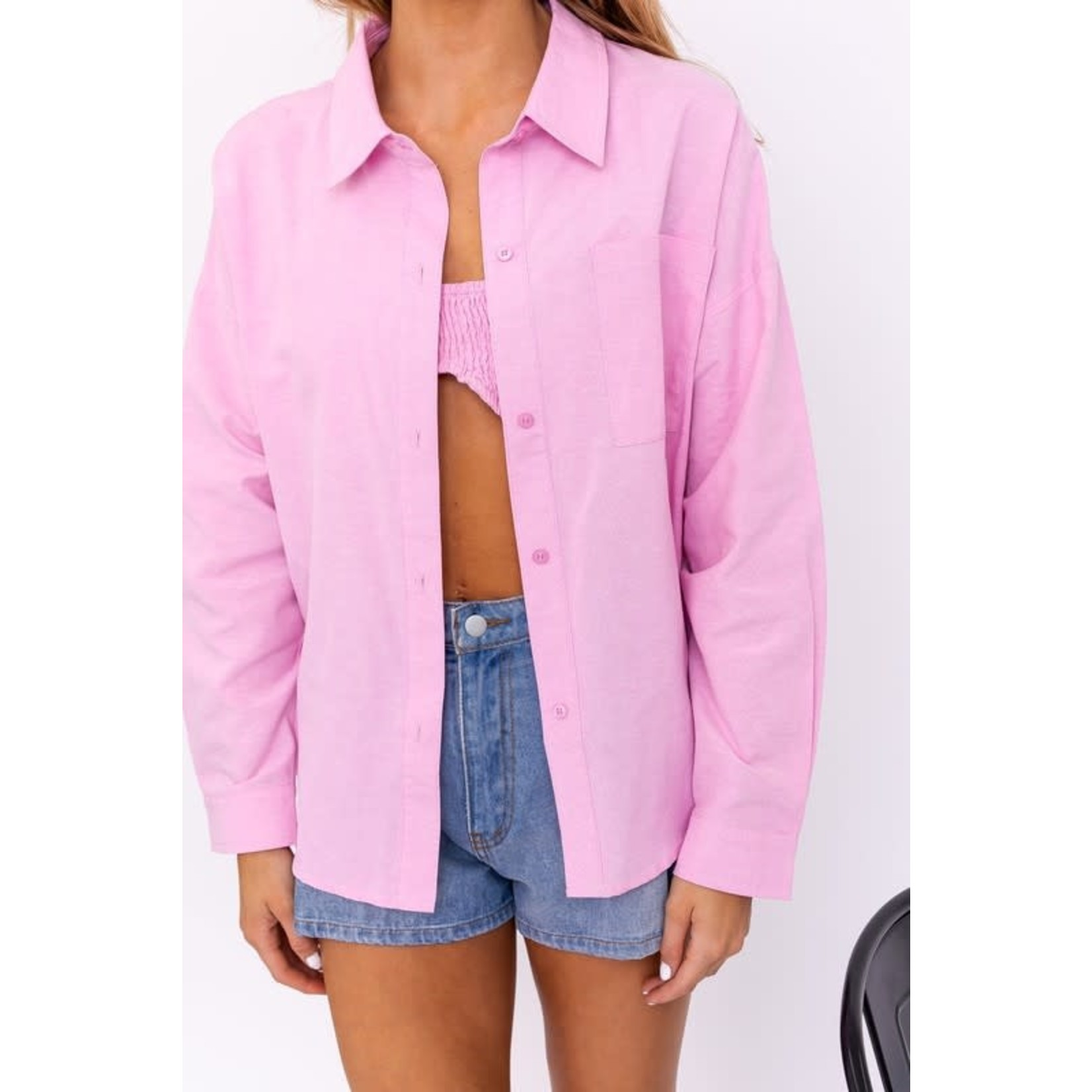 EM & ELLE Bianca Oversized Button Down Shirt