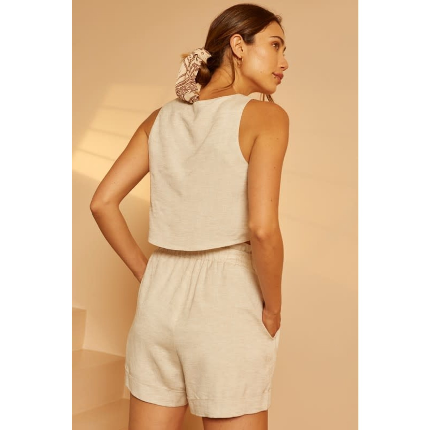EM & ELLE Portia Linen Shorts