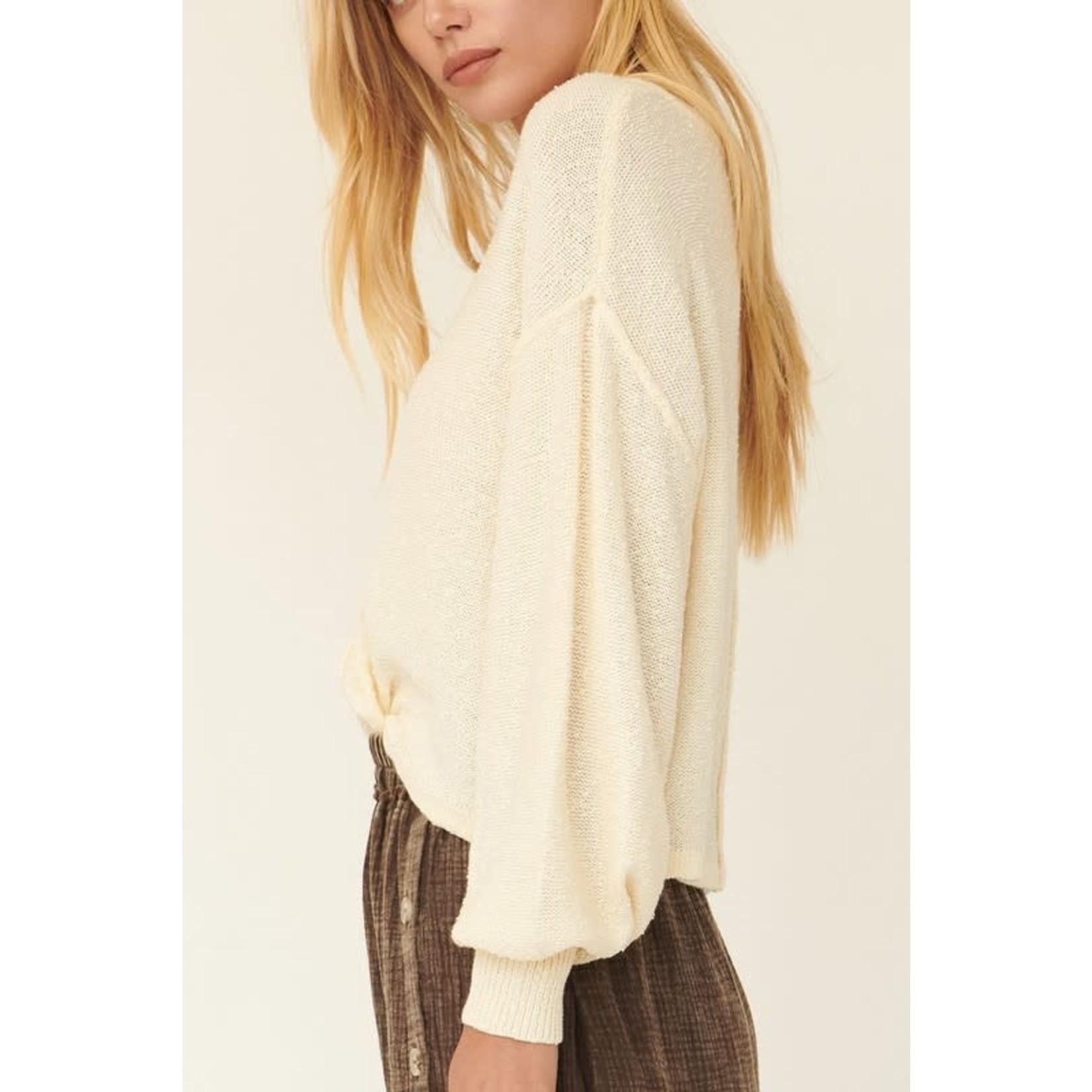 EM & ELLE Knox Loose Textured Sweater