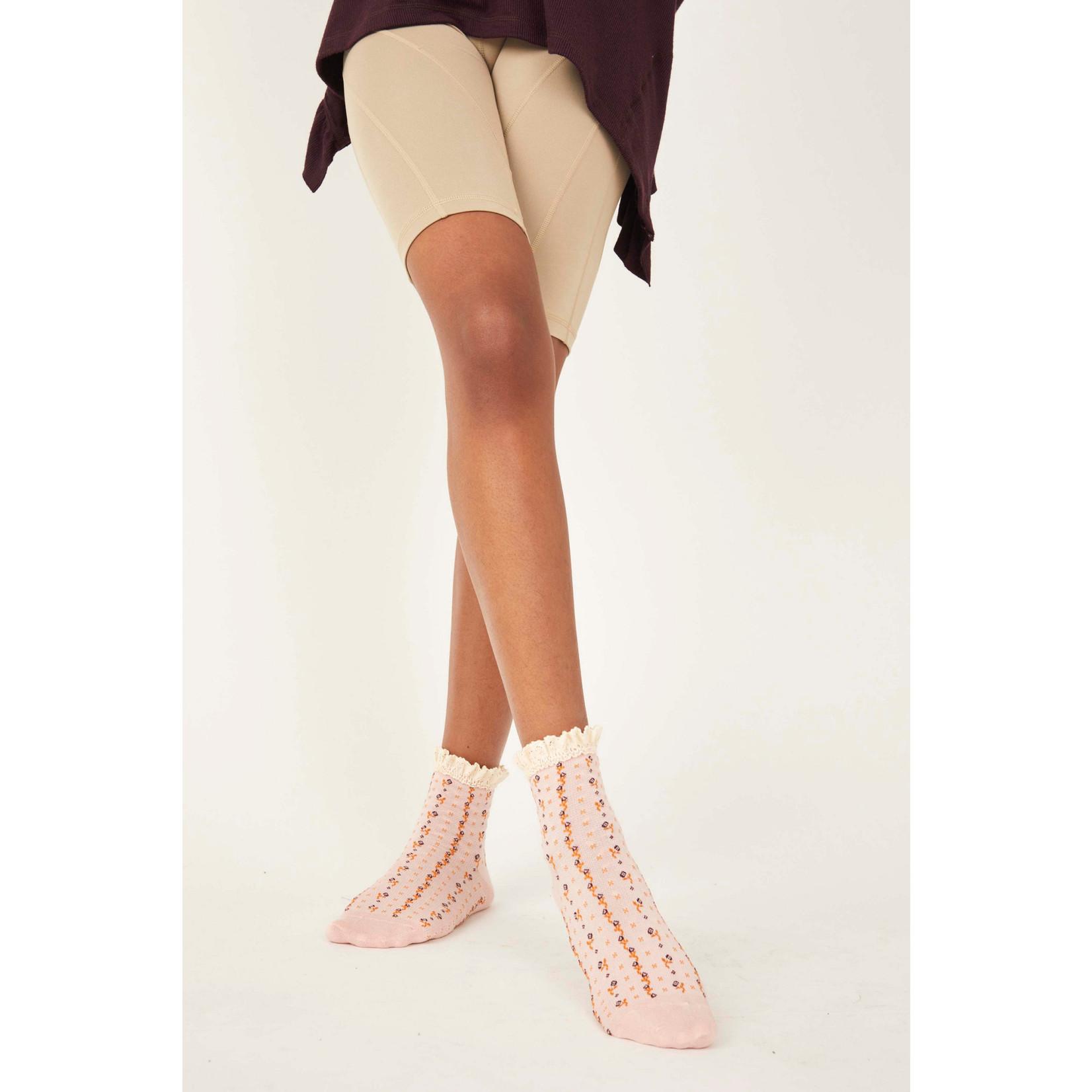Free People Rosebud Waffle Knit Ankle Sock