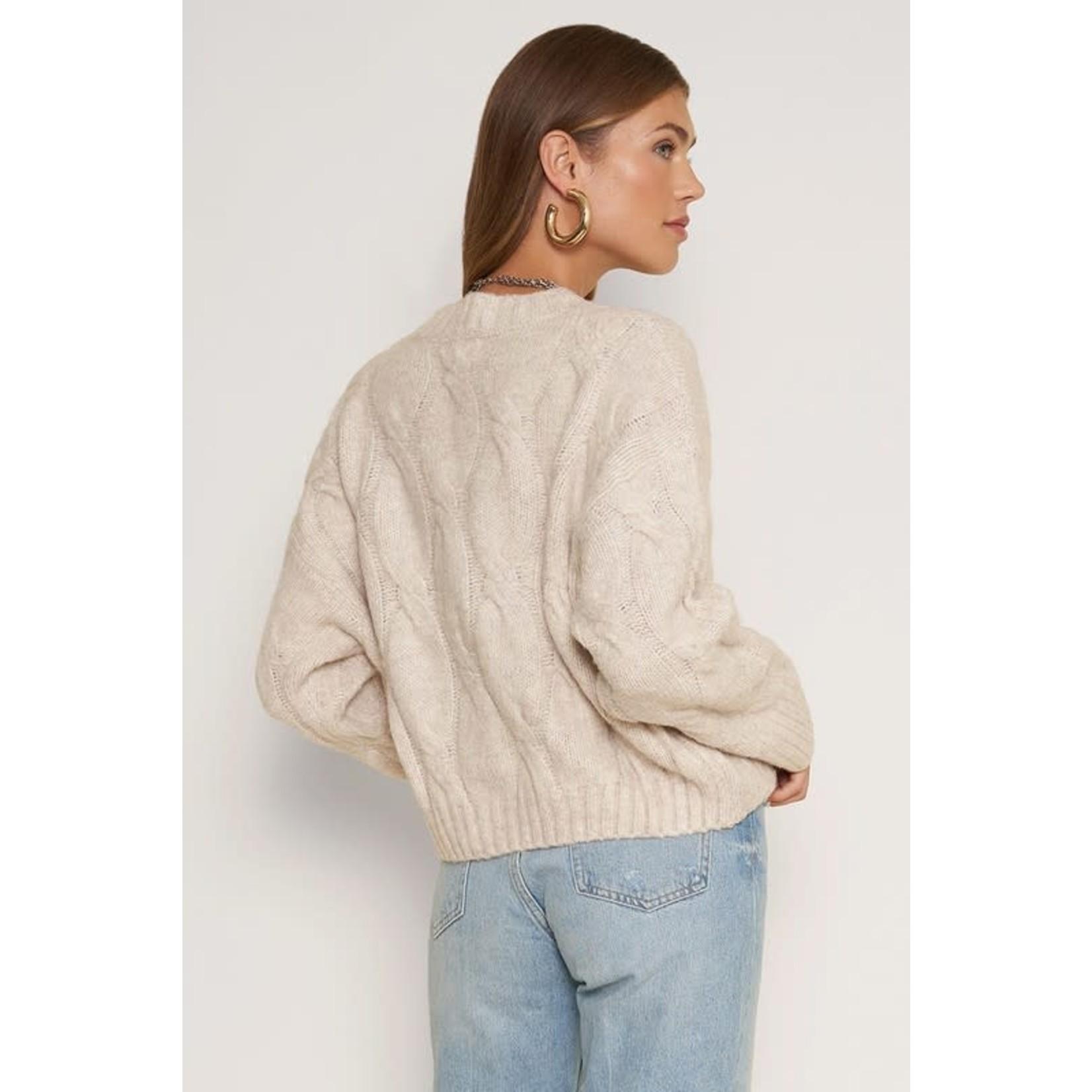 EM & ELLE Surrey Cable Knit Sweater