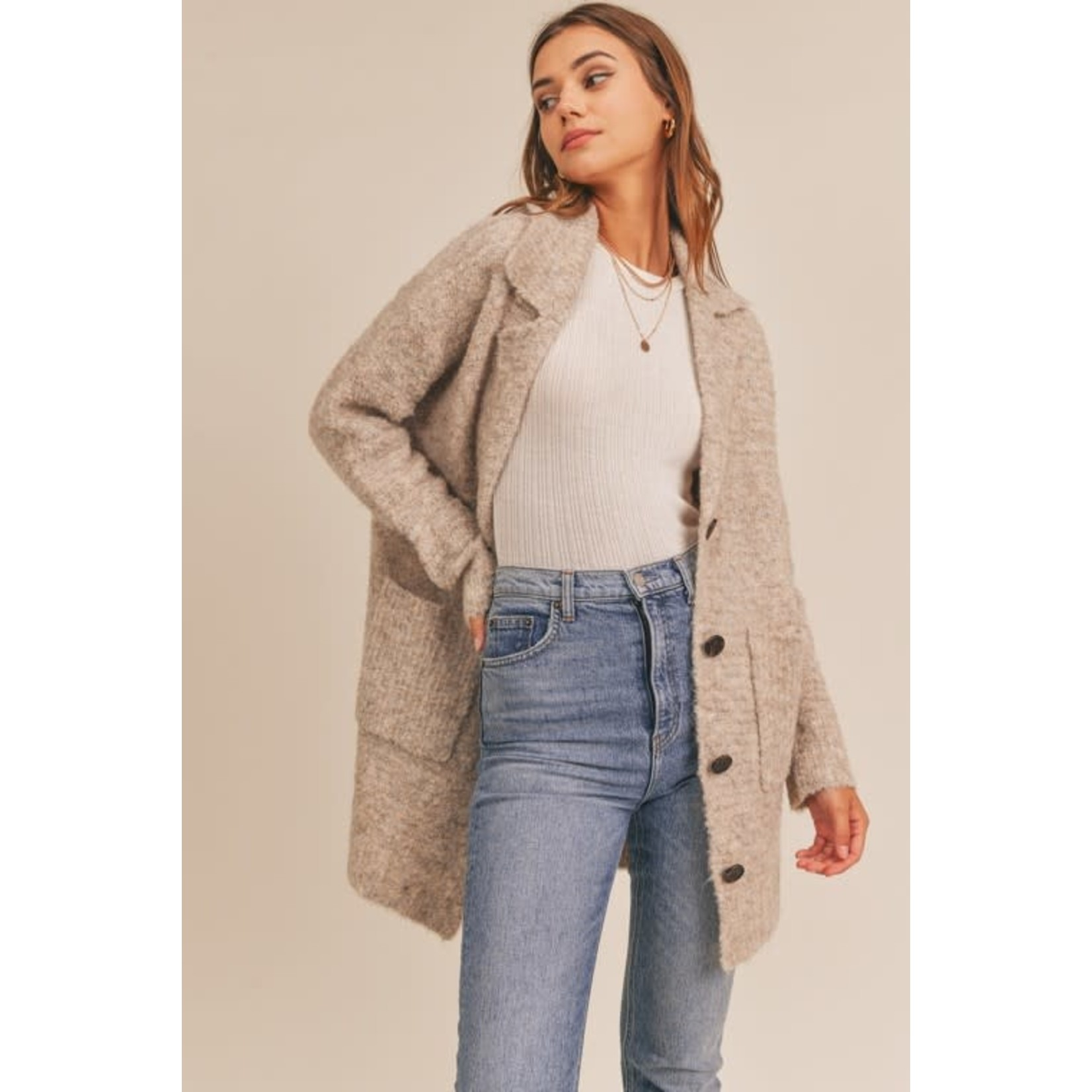 EM & ELLE Polland Button Down Sweater