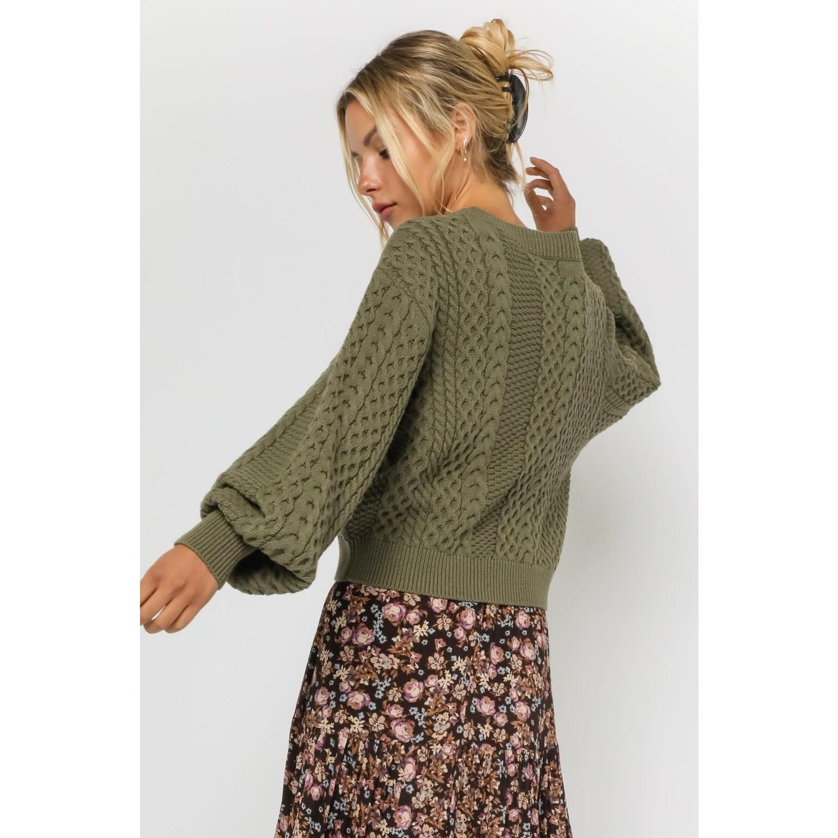 EM & ELLE Morris Fisherman Sweater