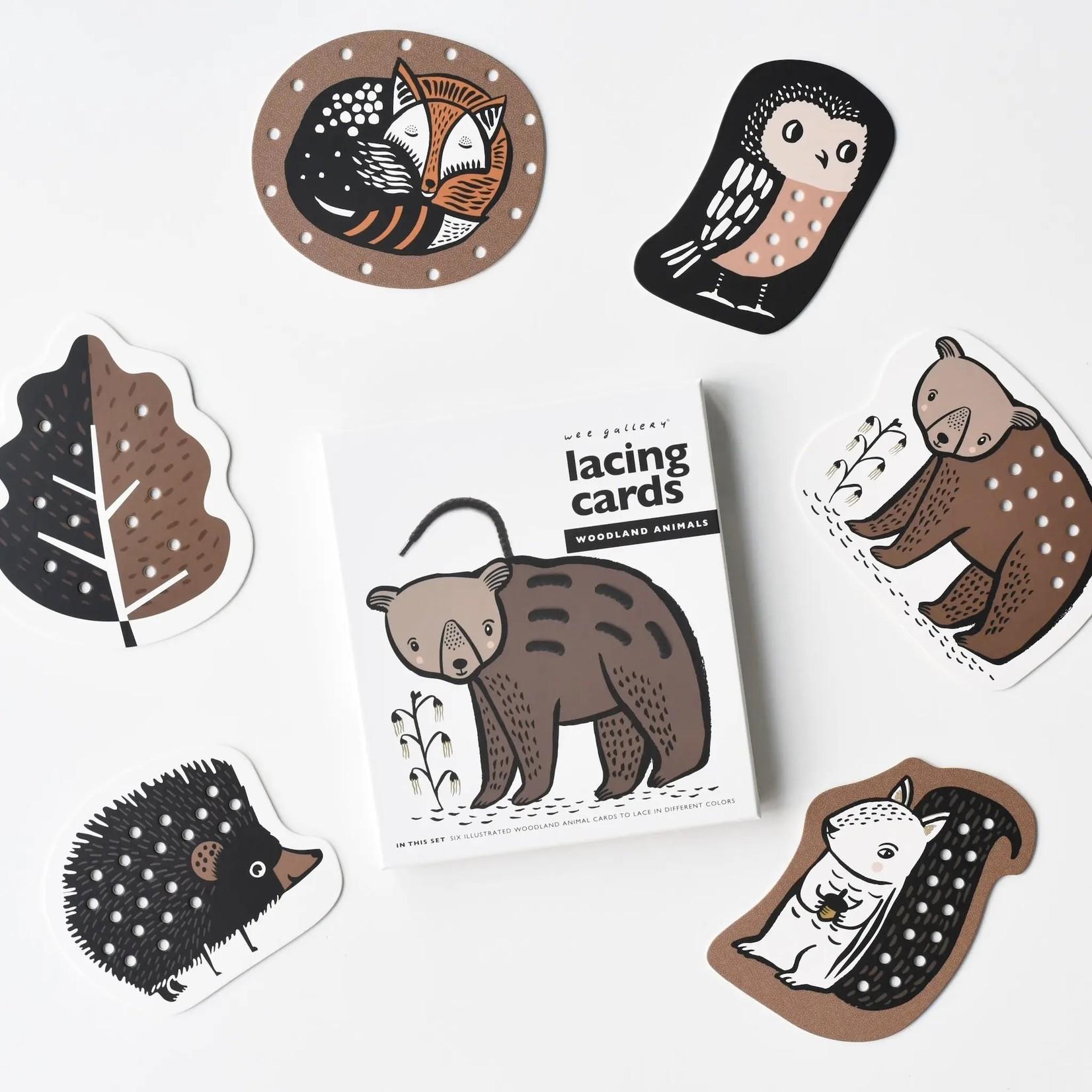 Lacing Cards - Woodland Animals