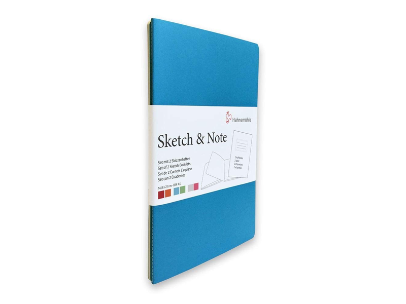 """Hahnemuhle Sketch & Note Booklets 125gsm 20 sh/40 pg Book - Grey/Pink 4.13 X 5.83"""""""