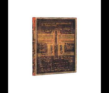 PAPERBLANKS FLEXIS TESLA SKETCH OF A TURBINE ULTRA UNLINED