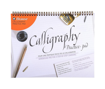 BRAUSE CALLIGRAPHY PRACTICE PAD WIREBOUND