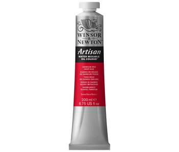 W&N ARTISAN OIL 200ML CADMIUM RED DEEP HUE