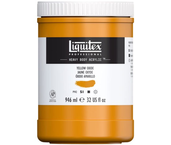 LIQUITEX HEAVY BODY 32OZ YELLOW OXIDE