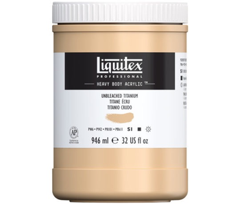 LIQUITEX HEAVY BODY 32OZ UNBLEACHED TITANIUM