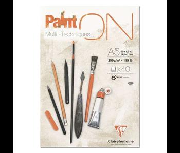 CLAIREFONTAINE PAINT ON: MIX MEDIA & MULTI-TECHNIQUE 115LB PAPER 5.25X6.25
