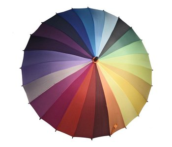 Colour/Colorwheel UMBRELLA WITH BLACK HANDLE