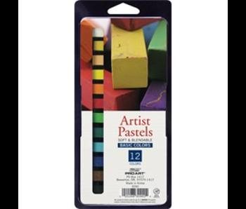 Square Artist Pastel 12 Color Set