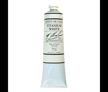 M. GRAHAM ARTIST OIL 150ML TITANIUM WHITE