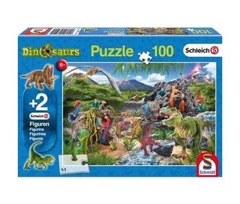 Schmidt Puzzle: Child 100 Piece Kingdom of the Dinosaurs