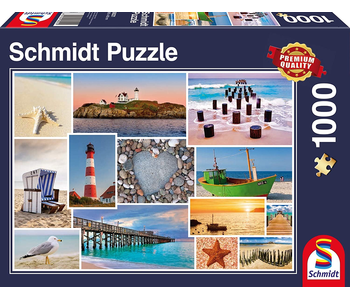 Schmidt Puzzle: 1000 Piece By The Sea