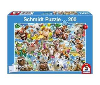 Schmidt Puzzle: Child 200 PieceAnimal Selfies