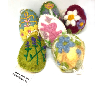 Hamro Village Felt Eggs