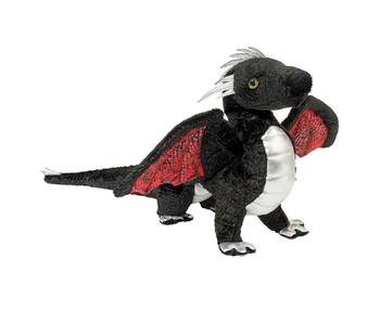 Douglas Cuddle Toy Plush Vincent Black Dragon