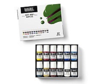 Liquitex Acrylic Soft Body Essential SET 12X22ML tubes