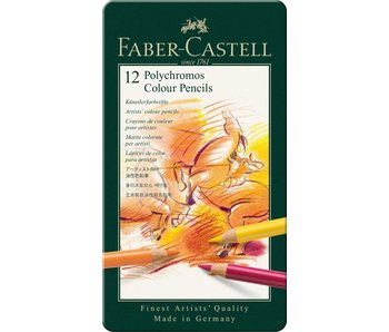Faber Castell Polychromos Colored Pencil Set 12Pk