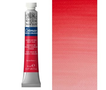 COTMAN WATERCOLOUR 8ML CADMIUM RED DEEP HUE