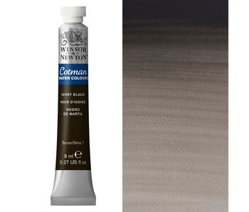 COTMAN WATERCOLOUR 8ML IVORY BLACK