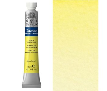 COTMAN WATERCOLOUR 8ML LEMON YELLOW HUE