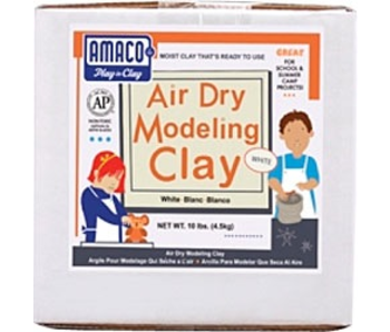 AMACO AIR DRY MODELING CLAY 25LB WHITE