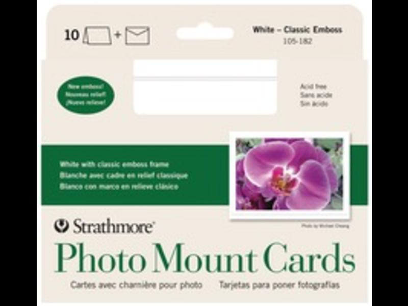 STRATHMORE PHOTO MOUNT CARDS WHITE 4x6 10PK