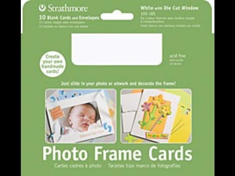 STRATHMORE PHOTO FRAME CARDS WHITE 10PK