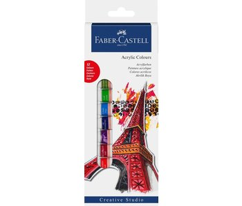 Faber-Castell Starter Kit Acrylic Colors  Box Of 12